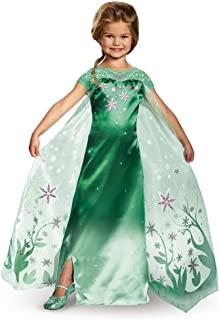 Elsa Frozen Fever Deluxe Costume, One Color, Large (10-12)