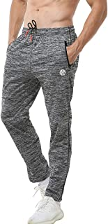 Men's Joggers Sweatpants Workout Running Gym Pants with Zipper Pockets