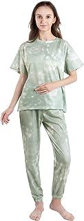SHOWHOW Women 2 Piece Tie Dye Print Pajama Set Top and Pant Sweatsuit