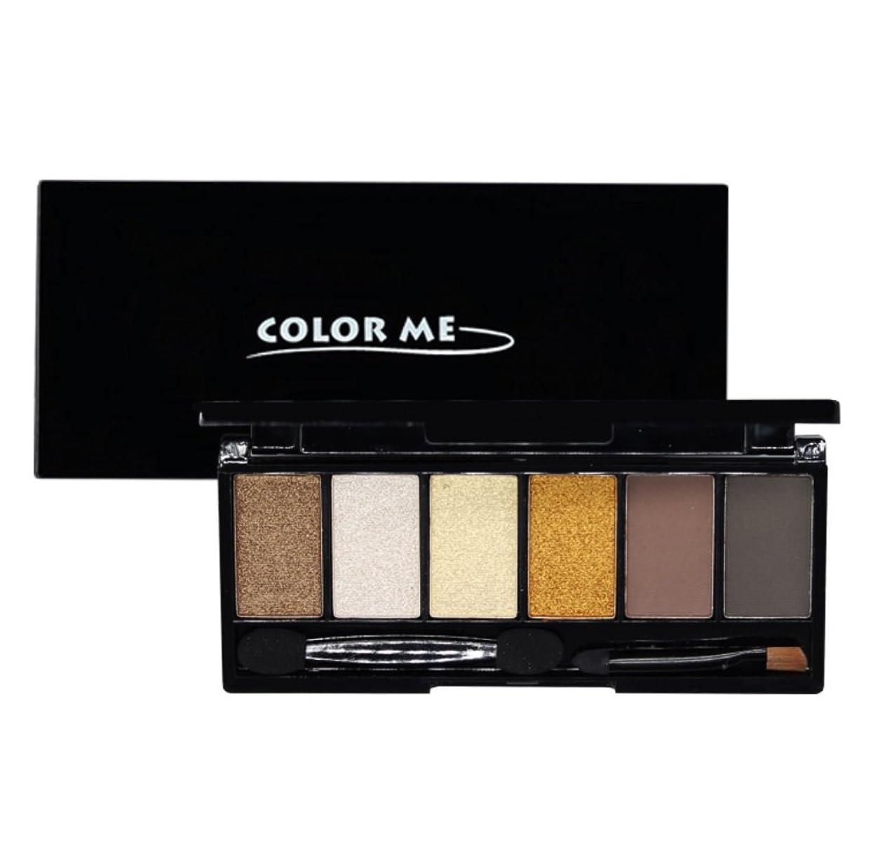アロングまもなく大洪水[COLOR ME] カラーミー 6色 アイシャドウ パレットNo.3 Golden Brown 6 Colors Eye Shadow Palette Kit