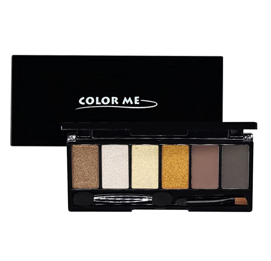 うま好きであるアイデア[COLOR ME] カラーミー 6色 アイシャドウ パレットNo.3 Golden Brown 6 Colors Eye Shadow Palette Kit