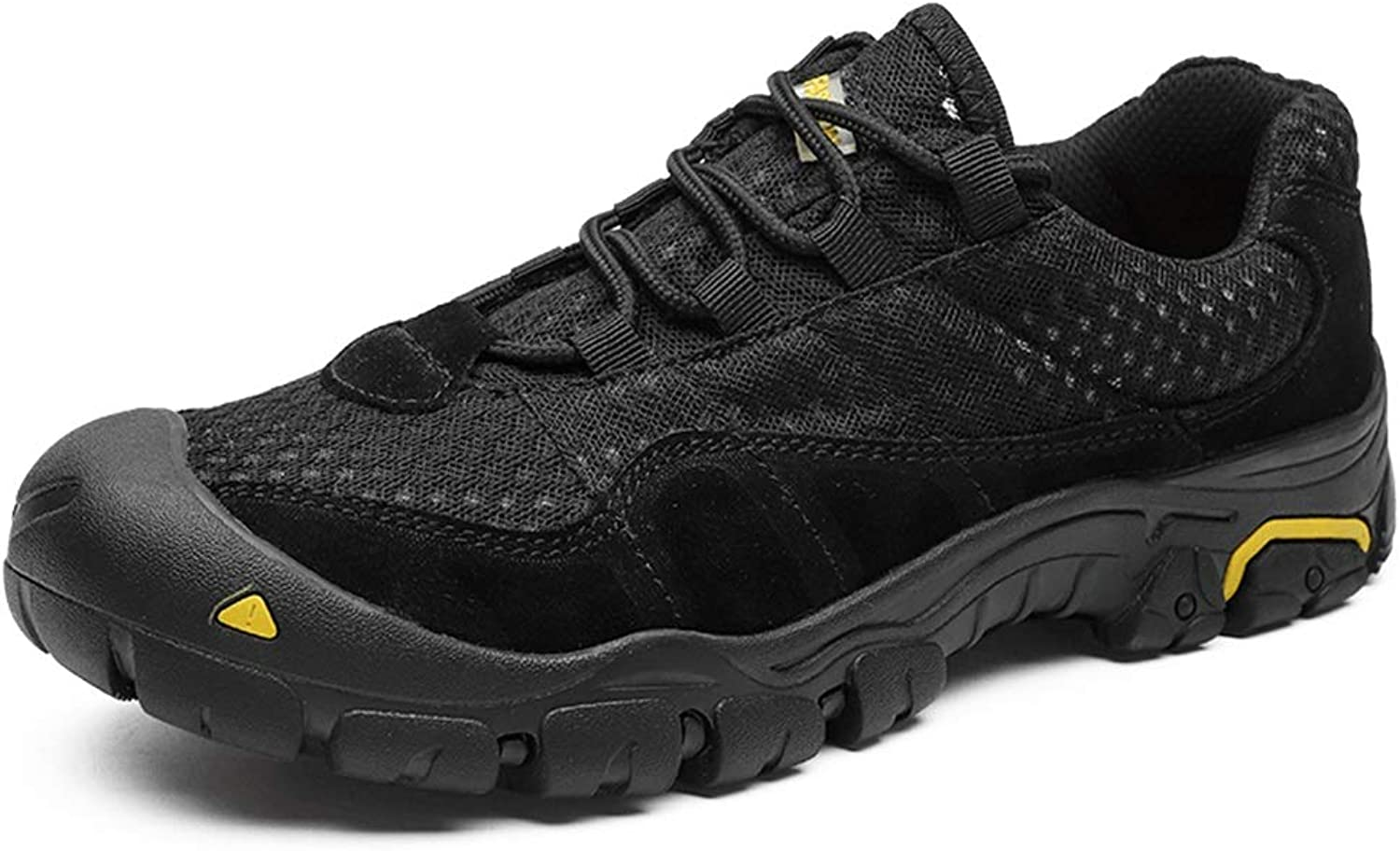 Easy Go Shopping Athletic shoes for Men Sports shoes Lace Up Style Mesh and Suede Leather Anti-Collision Toe Outdoor Cricket shoes