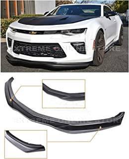 Extreme Online Store for 2016-2018 Chevrolet Camaro SS All Models | EOS T6 Style Add-On Front Bumper Lower Lip Splitter (ABS Plastic - Primer Black)