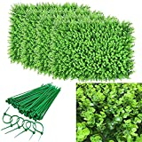 uyoyous 12PCS 24'x 16' Artificial Boxwood Panels Topiary Hedge Plant Privacy Screen UV Protected Faux Greenery Green Wall Backdrop Mats for Outdoor Indoor Backyard Garden Fence Party Decor