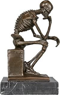 Toperkin Modern Sculpture The Thinker Home Decoration Carving Brass Statue TPE-998