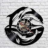 Reloj de pared 3D multicolor Reloj de delfín de animales marinos Decoración de pared de guardería...