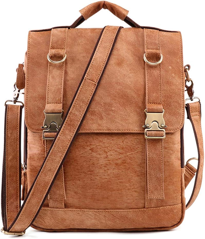 HWX Vintage Casual Men Men Men es Rucksack Laptop Daypack Multifunktionale Tote Tasche Crossbody Bag,frostedbraun,36CM28CM10CM B07MFDZGTK  ein guter Ruf in der Welt fb42a1
