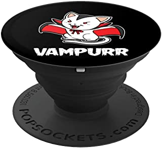 Vampurr Halloween Costume Funny Vampire Kitten Cat Dracula PopSockets Grip and Stand for Phones and Tablets