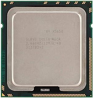 Tonysa CPU para Intel Xeon X5650 Six-Core Doce Hilos 2.66GHz 12M Cache LGA1366 CPU Versión Oficial