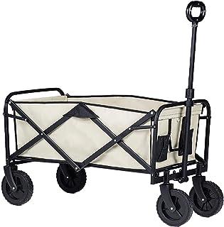 Haol Folding Wagon Cart Outdoor Collapsible Portable Garden Outdoor Park Utility Wagon Picnic Camping Cart All Terrain Wheels