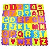 Swonuk 36 piezas puzle alfombra de espuma para bebé no tóxica alfabetos y números alfombra de puzles para niños 30 x 30 cm