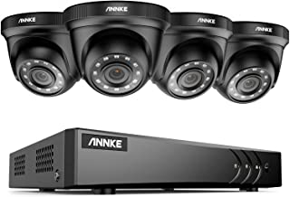 ANNKE 8CH Surveillance Security Camera System 5MP Lite H.265+DVR Recorder and (4) Outdoor 1080P 2MP CCTV Dome Cameras with...