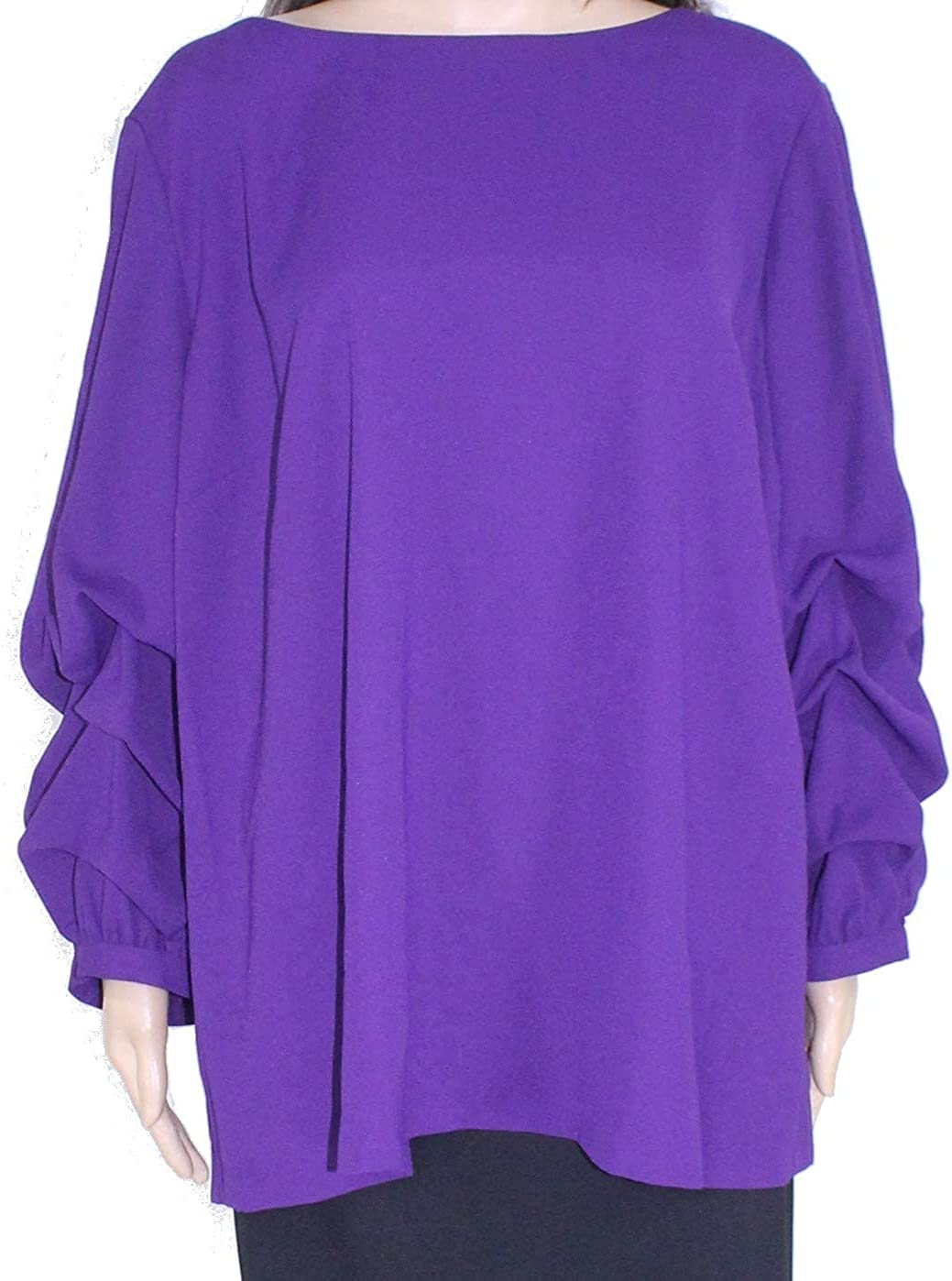 Alfani Womens Billow-Sleeve Denver Mall Free shipping on posting reviews Zip-Up Blouse