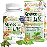 Stress Lift | Best Ashwagandha Supplement - 5 in 1 Organic Stress Relief, Anti-Anxiety & Adrenal, Joy, Mood & Thyroid Support | Relax The Mind, Boost Mood, Relieve Stress 120 Vegan Capsules