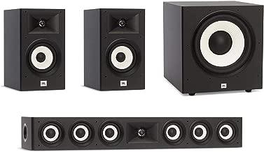 JBL 3.1 System with 2 JBL Stage A130 Bookshelf Speakers, 1 JBL Stage A135C Center Speaker, 1 JBL Stage A100P Subwoofer