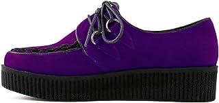 ZriEy Women's Lace up Punk Flat Shoes