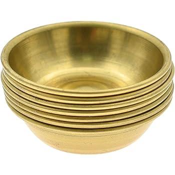 Kesheng Set of 7 Mini Brass Handmade Tibetan Meditation Altar Buddhist Offering Bowls