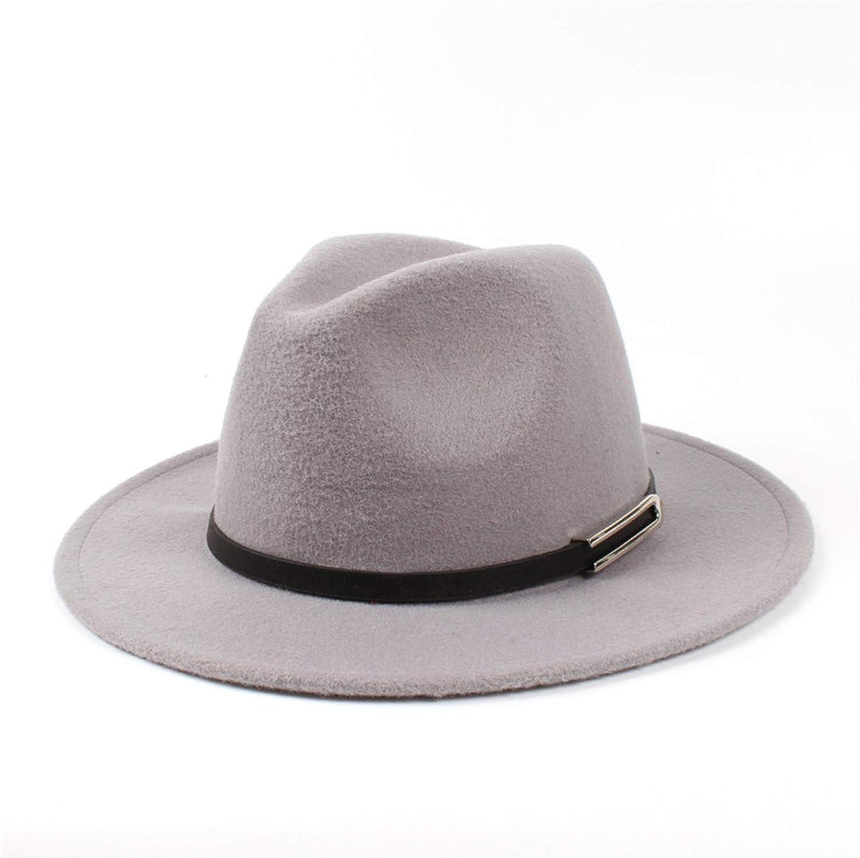 895ec0a7 DOSOMI Fashion Women Men Wool Wide Brim Fedora Hat Winter Winter Winter  Autumn Jazz Church Cap Top Godfather Hats 8d5f8e