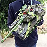 URVP Large Radio RC Battle Tanks Toy Remote Control Military Battle Tank Abrams M1A2 Main battle armored vehicle 2.4 GHz 1:32 Model car With USB Charger Cable RC Panzer Toys for Kids Boys Girls(40cm)