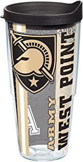 Tervis 1229787 Army Black Knights College Pride Tumbler with Wrap and Black Lid 24oz, Clear
