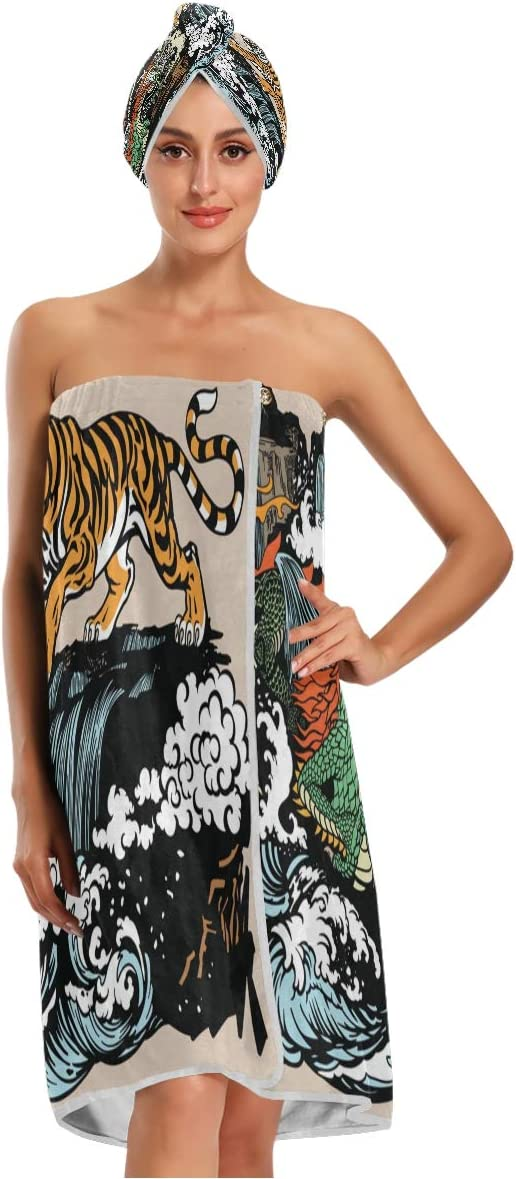 KEEPREA Chinese East Asian Dragon Towel Discount is also Direct stock discount underway Wrap Cap Hair with Dry