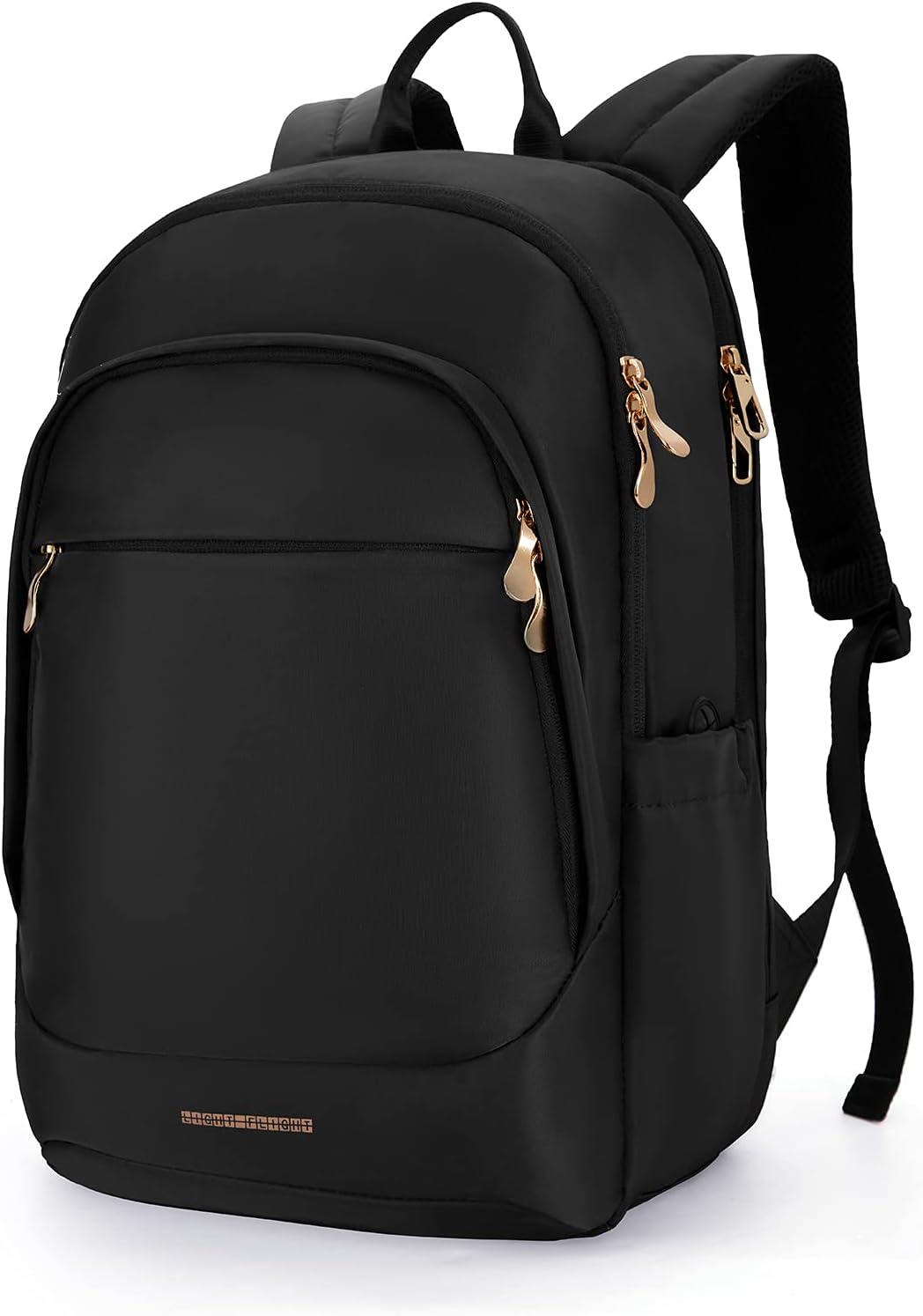 Laptop Backpack LIGHT FLIGHT Women Backpacks Travel School College 15.6 inches Laptop Bags for Work Black