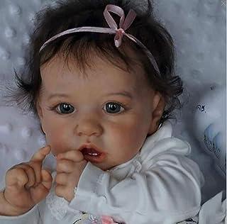 22 inch reborn baby, reborn baby pop, peuter meisje levensechte echte touch real uitziende handgemaakte kleding gift speel...