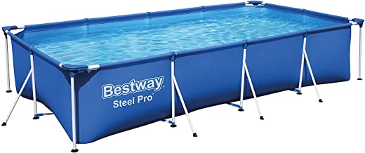Bestway 56424 - Piscina Desmontable Tubular Infantil Family Splash Frame Pool 400x211x81 cm Depuradora de cartucho de 1.249 litros/hora