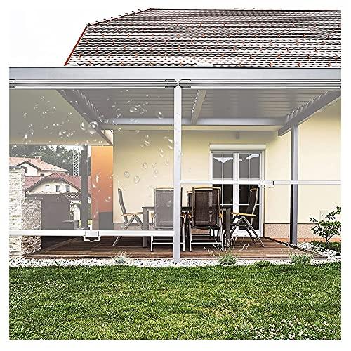 XJJUN Persianas Enrollables Transparentes, Parasol Resistente A Los Rayos Ultravioleta Pantalla De Partición De Plástico para Exteriores Un Conjunto Completo De Accesorios, para La Familia