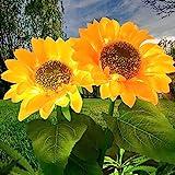 Solarleuchte Garten Sonnenblume Solarlichter, LED Aussenleuchten Wegeleuchte Deko,garten Solares Licht für Terrasse Rasen Garten Hinterhöfe(2 Stücke)