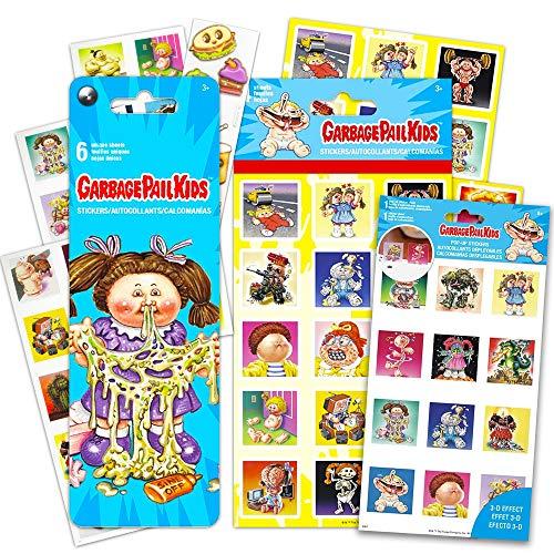 Garbage Pail Kids Party Favors Sticker Set -- Bundle Includes 12 Sheets of Garbage Pail Kids Stickers, Over 160 Stickers Total! (Garbage Pail Kids Stickers and Party Favors)