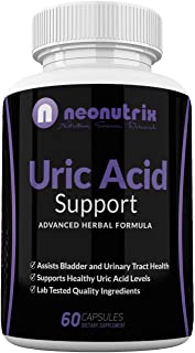 Neonutrix Uric Acid Support for Kidney Health - Supports Bladder & Urinary Tract Health for Men & Women - Made in USA - 60 Caps