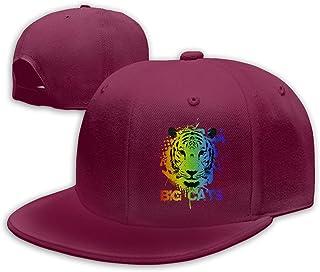 Unisex Fashion Dripping Big Face Tiger Baseball Caps Buckle Design Adjustable Trucker Hat Black