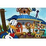 YeeATZ Puzzles para adultos 1000 piezas Donald Duck: póster de escena animada, 1000 piezas para adultos y niños, juguetes educativos DIY juego divertido 75 x 50 cm