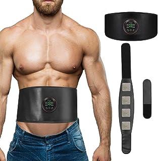 Estimulador Muscular,Cinturon Electroestimulador Abdominales USB Recargable EMS Electroestimulador Muscular Abdominales para Abdomen/Cintura/Pierna/Brazo no Necesita Almohadillas ni Gel