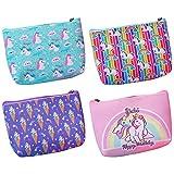 NA/ Unicorn Coin Purse 4 pcs Small Change Purse Coin Pouch Wallet for Little Girl Kids Women Unicorn Coin Bag, Green Purple Pink, Medium