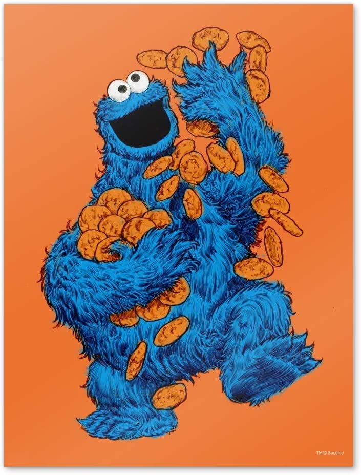 GRAPHICS & MORE Sesame Street Vintage Cookie Monster Home Business Office Sign