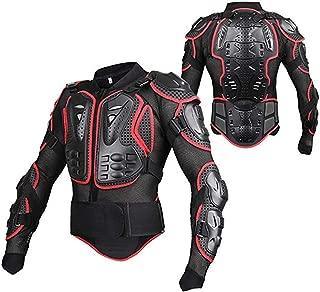 Oeyal Motorcycle Full Body Armor Jacket Sport Motocross ATV Guard Jacket Full Body Armor Protector for Men (Medium, Red-Black)