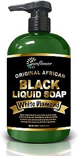 Difeel Liquid African Black Soap White Diamond 12 ounce