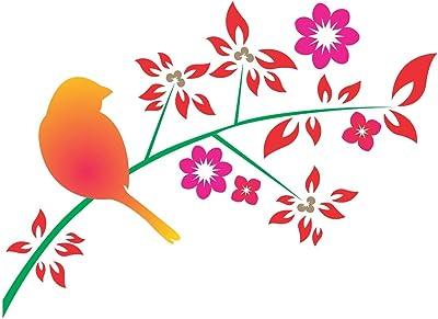 Wallstick Colourful Birds wallstickers (Vinyl 90 cm x 65 cm)