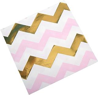 Neviti Pattern Works serwetki, zygzak, różowe