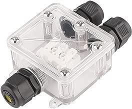 Conector de cable para exteriores con caja de derivaci/ón impermeable negro, PA66 6 unidades de conector de pecho IP68 de 5 mm a 12 mm de di/ámetro