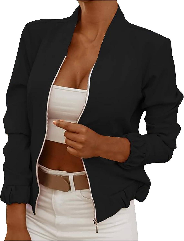 VonVonCo Cardigan Sweaters for Women Fashion Long Sleeve Zipper Flower Print Casual Fit Short Jacket Coat Wear
