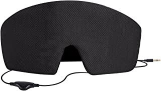AGPTEK Sleep Headphones, Ultra Soft Comfortable Wired Eye Mask Built-in HD Audio Speaker,Perfect for Noise Canceling&Bedtime & Travel &Meditation, Black
