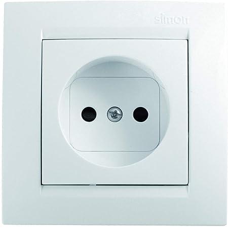 Simon F1590444030 Enchufe bipolar serie 15 blanco