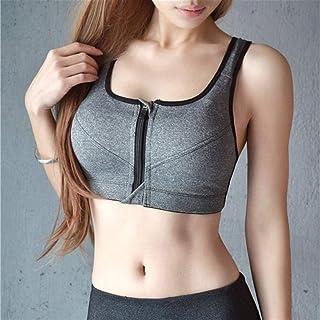 NJTSXLM Sports Bras,Plus Size 5XL Sports Bra Vest Underwear Shockproof Crop Top Bralette Women Zipper Push Up Sport Bras G...