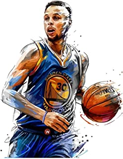 DIY 5D Diamond Painting by Number Kits 20x28 Inch,Basketball Game Star Painting Cross Stitch Full Drill Crystal Rhinestone Embroidery Pictures Arts Craft for Home Wall Decor Gift A28102