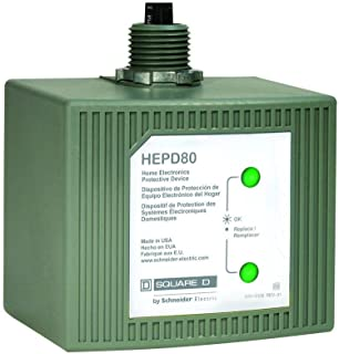 Schneider Electric HEPD80C Whole House Surge Home Electronics Protective Device, Grey