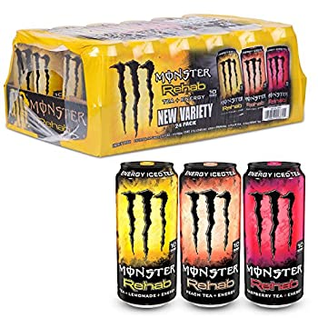 Monster Energy Rehab Variety Pack  15.5 oz cans 24 ct   pack of 2
