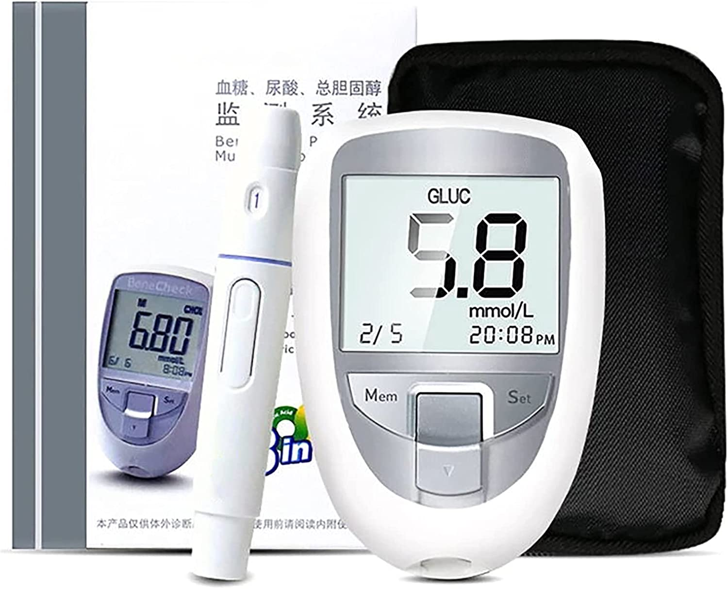 HTTDD 3 in 1 Blood lowest price Glucose Meter Tes Portable New Award-winning store LED Home